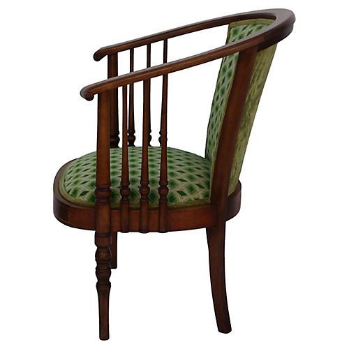 Antique Carved Walnut Designed Armchair