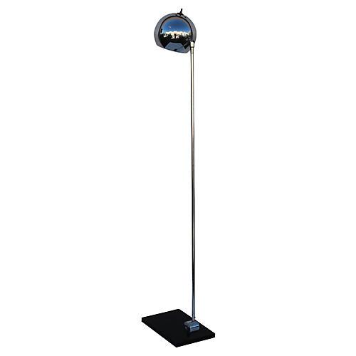 Mid-Century Modern Chrome Floor Lamp