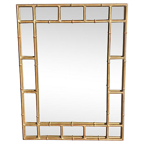 40s French Art Deco Bagues Steel Mirror