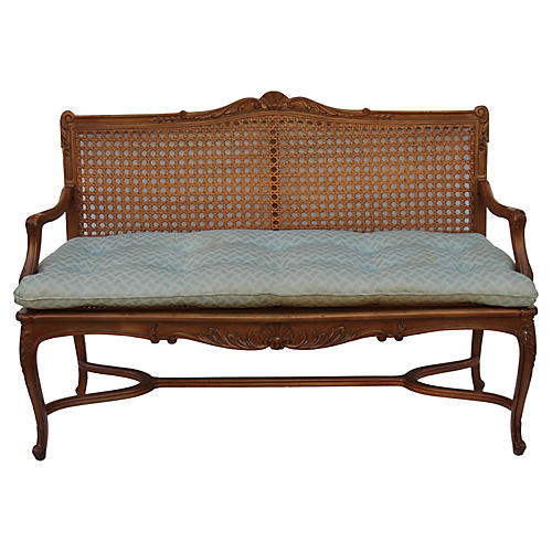 French Louis XV-Style Settee, C. 1920