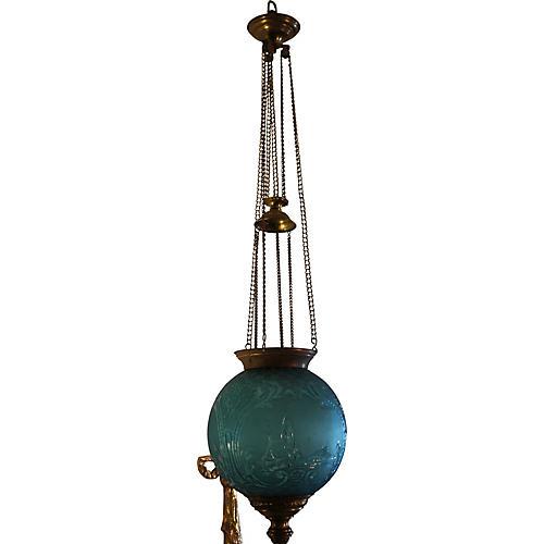 19th-C. Baccarat France Hanging Lantern