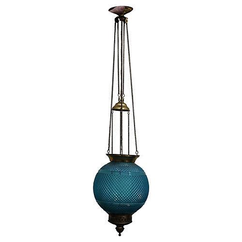French Art Deco Baccarat Lantern, C 1920