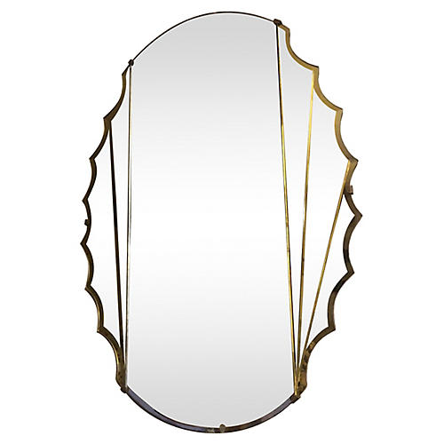 Art Deco Scalloped Mirror