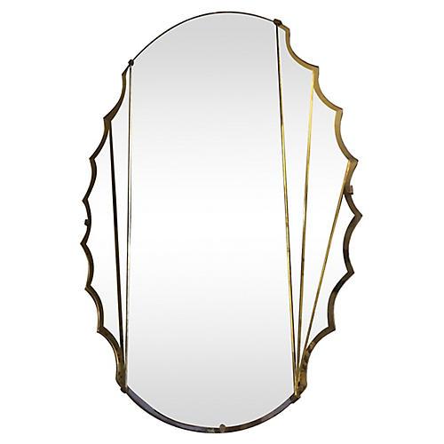 Art Deco Scalloped Mirror