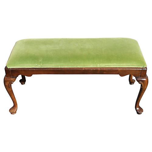 Midcentury Louis XV-Style Bench