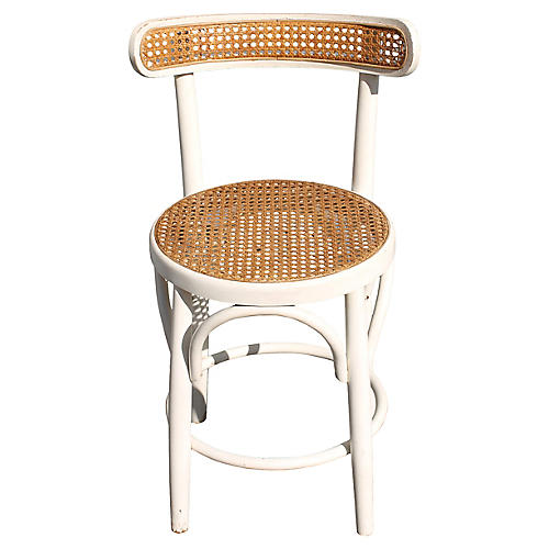 Midcentury Caned Side Chair