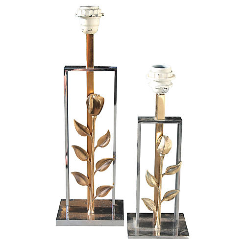 Maison Charles Bronze Table Lamps, S/2