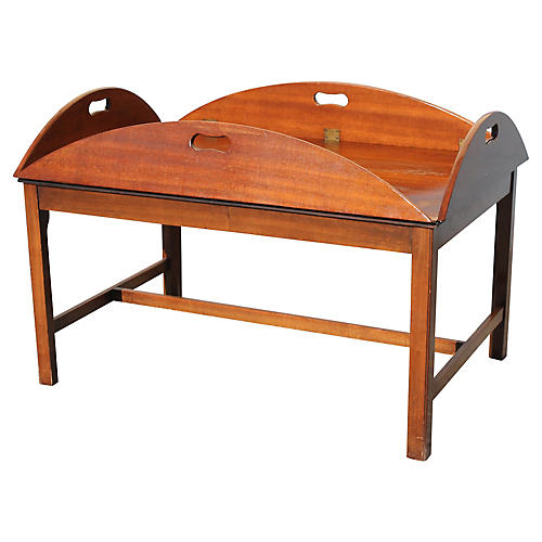 Midcentury Walnut Tray Table