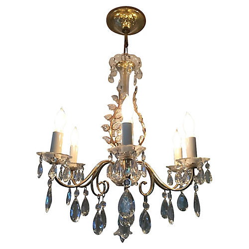 '50s Hollywood Regency Bagues Chandelier
