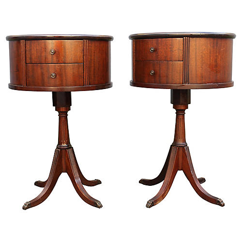 Exotic Drum Tables, S/2