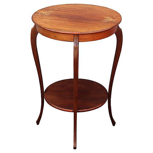 French Art Deco Inlaid Accent Table