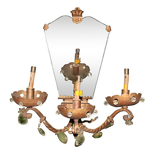 1910 Large Mirrored Maison Bagues Sconce