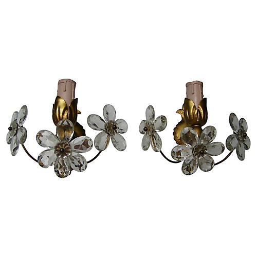 Maison Bagues Mid-Century Sconces, Pair