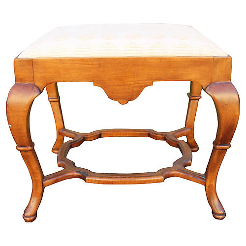 Midcentury Traditional-Style Foot Stool
