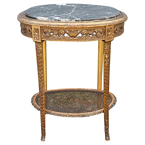 Louis XVI-Style Side Table, C. 1850