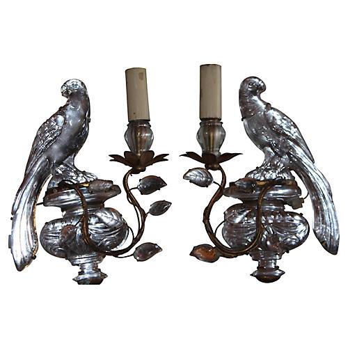 Pr Maison Bagues 20s Parrot Sconces Deco