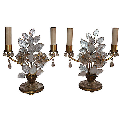 French Maison Bagues Table Lamps, Pair