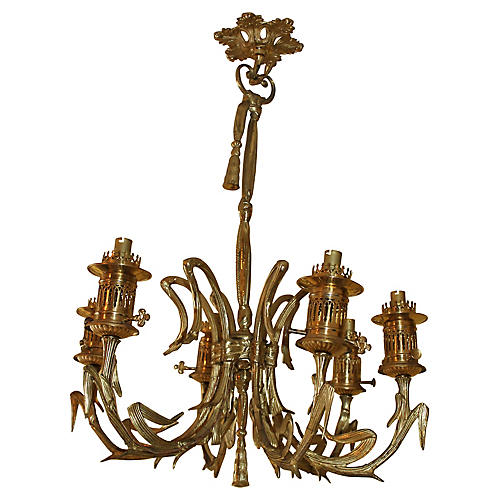 19th-C. Maison Bagues Bronze Chandelier