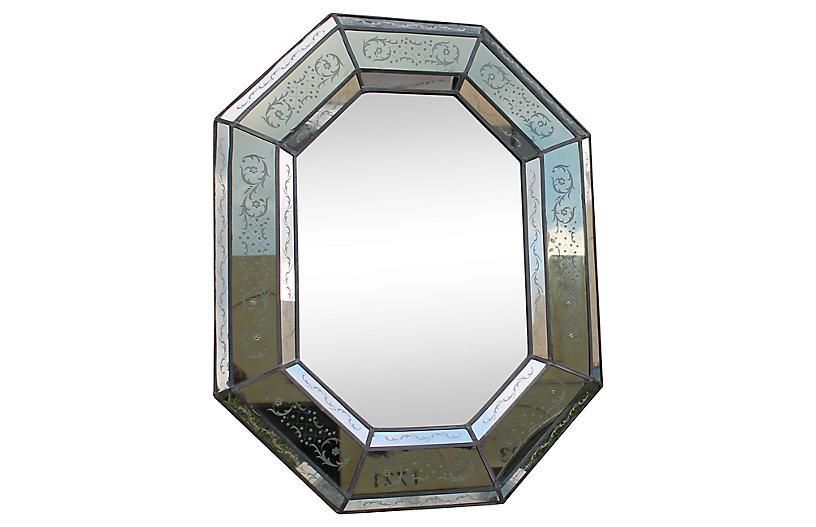 1920s Venetian Églomisé Paneled Mirror