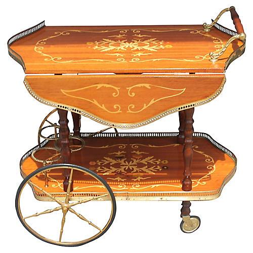 French Drop-Leaf Tea Cart