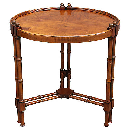 Vintage Faux Bamboo Occasional Table