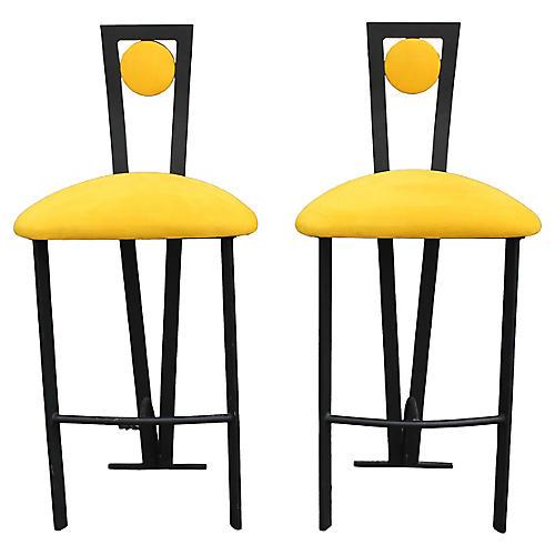 S/2 Memphis Style Barstools