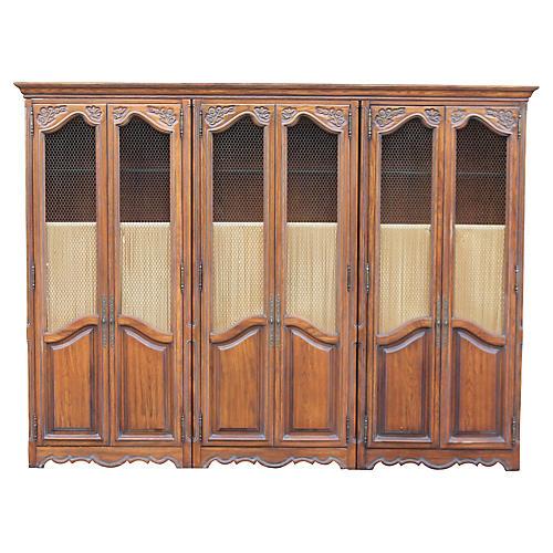 Vintage Tall Bookshelves/ Cabinet