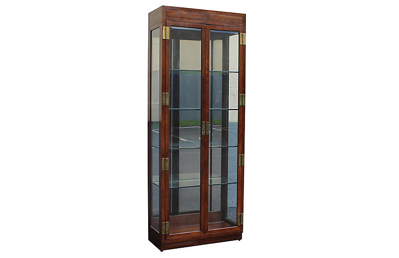 70s Henredon Campaign style Display Case