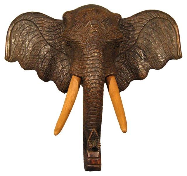 Carved Elephant Mount