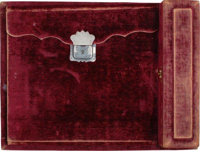 19th-C. Velvet Desk Blotter