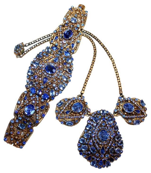 1930s Czech Necklace & Bracelet Set