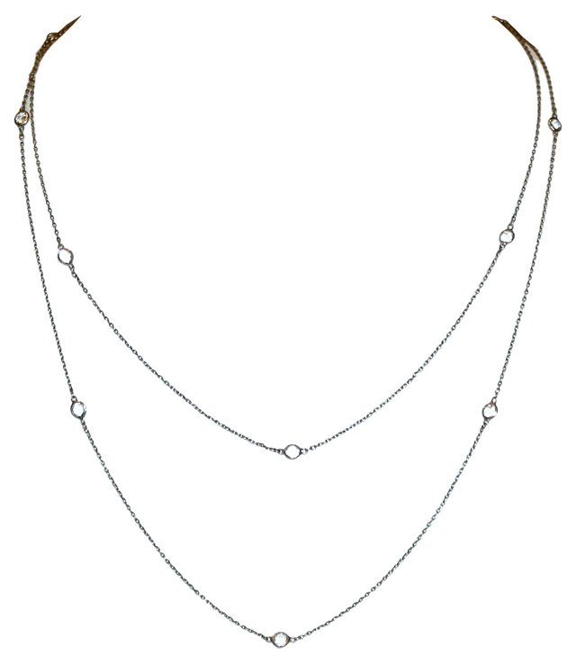 1920s Platinon & Cut Crystal Necklace