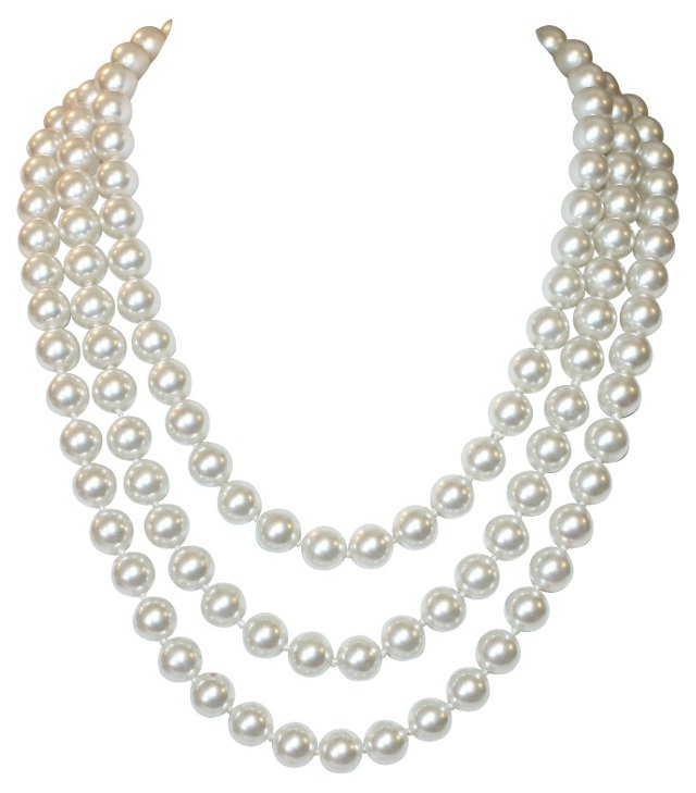 """62"""" Long Faux-Pearl Necklace"""