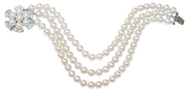 Marvella Faux-Pearl Bracelet