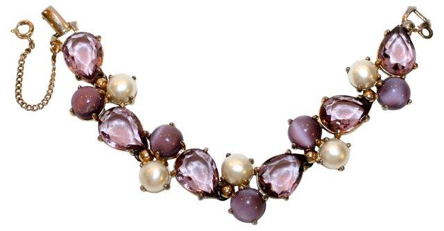 Schiaparelli Purple Jeweled Bracelet