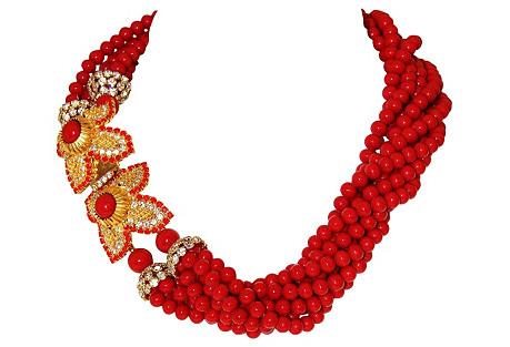William de Lillo Floral Torsade Necklace