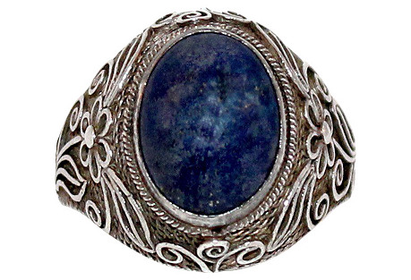 Chinese Sterling & Sodalite Ring