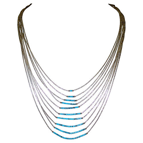 Sterling & Turquoise Bib Necklace