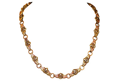 Two-Tone Victorian Gold-Filled Bookchain