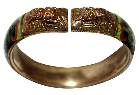 Foo Dog Cloisonné Bangle
