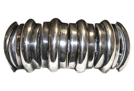 1940s Sterling Tank-Style Bracelet