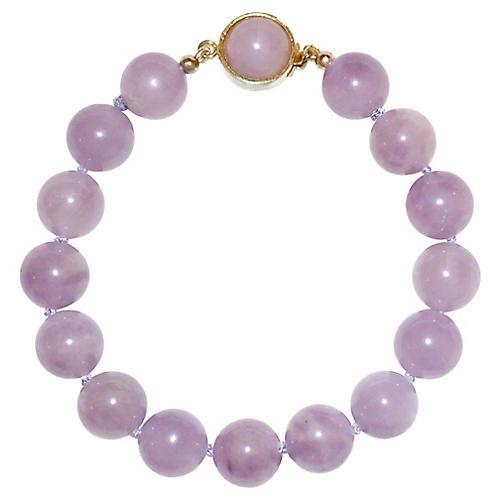 Amethyst Quartz Bead Bracelet