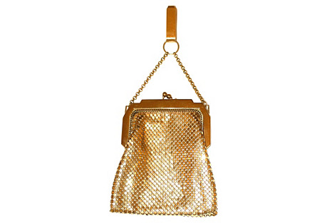 Mesh Chatelaine Evening Purse