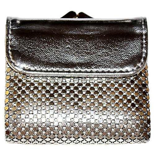 Whiting & Davis Silvertone Mesh Wallet