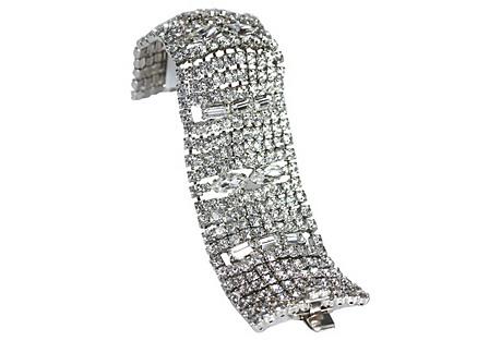 Wide Rhinestone Bracelet