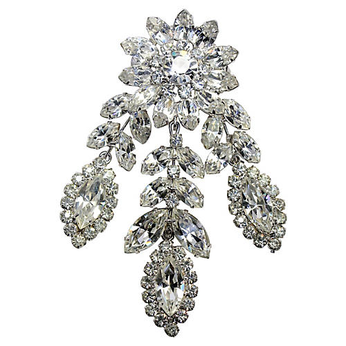 Weiss Dangling Crystal Brooch