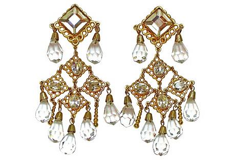 deLillo Crystal Chandelier Earrings