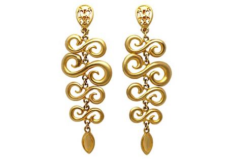 Goldtone Chandelier Earrings