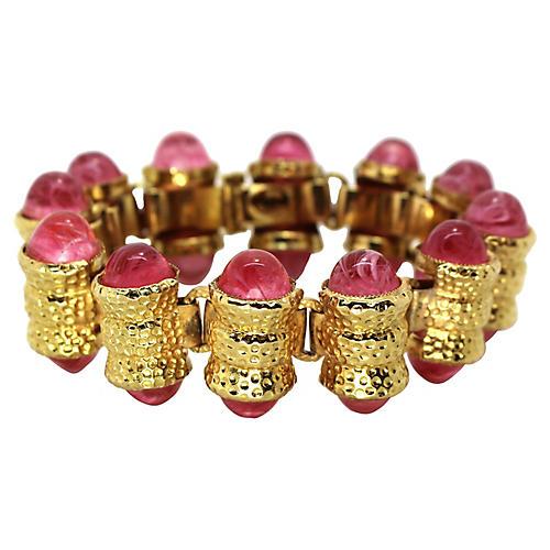 Wm de Lillo Pink Cabochon Bracelet