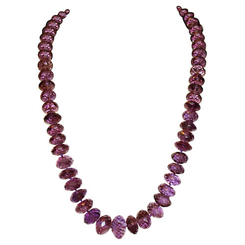 Faceted Amethyst Bead Necklace